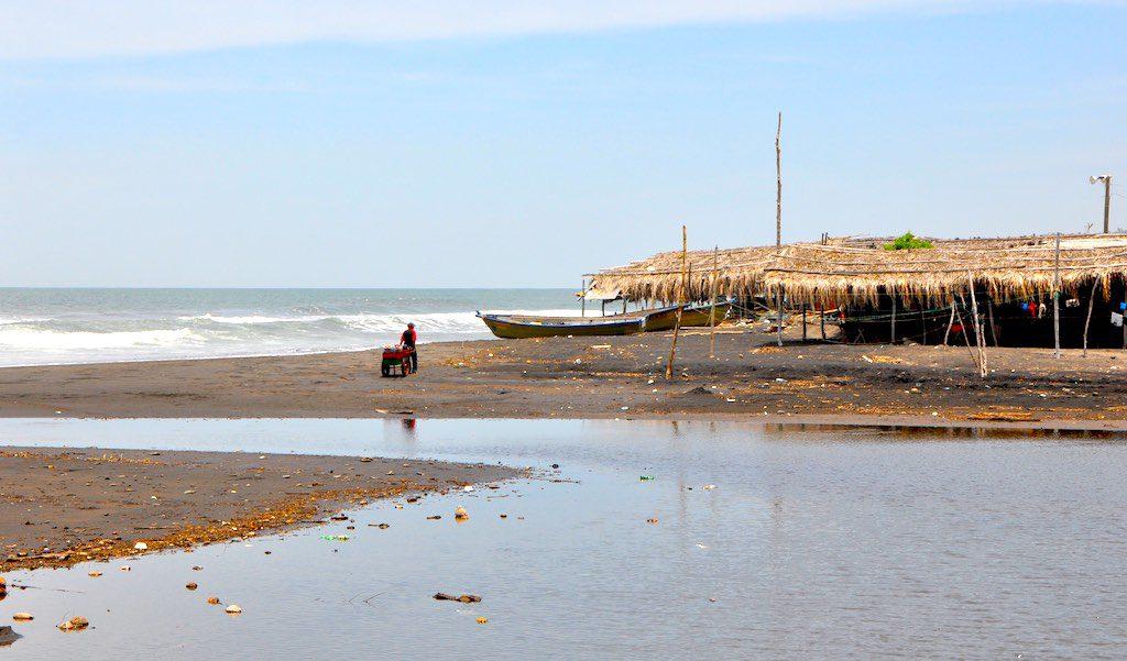 Fahrender Händler an der Costa del Bálsamo.