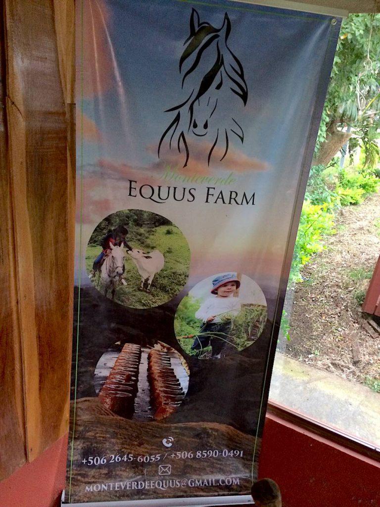 Die Equus Farm in Monteverde. Wir können es empfehlen.