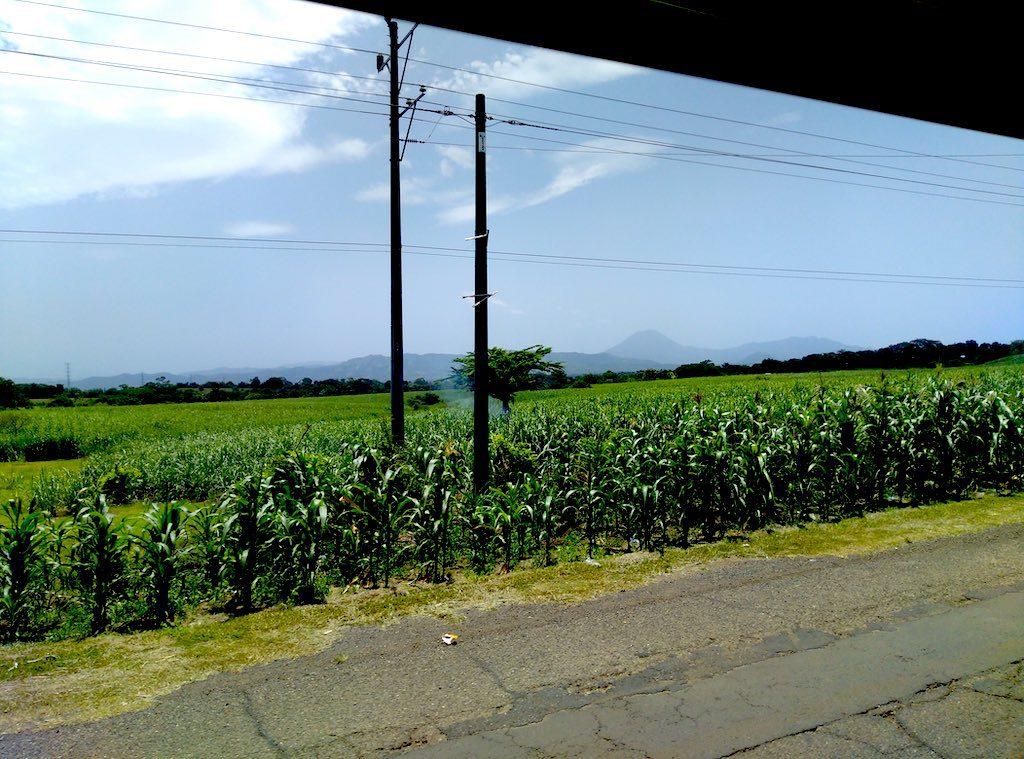 Vulkankette auf dem zwischen der Ruta de las Flores und Santa Ana