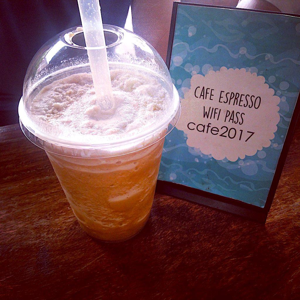 Ein leckerer Frappucchino im Café Espresso aus salvadorianischen Kaffeebohnen