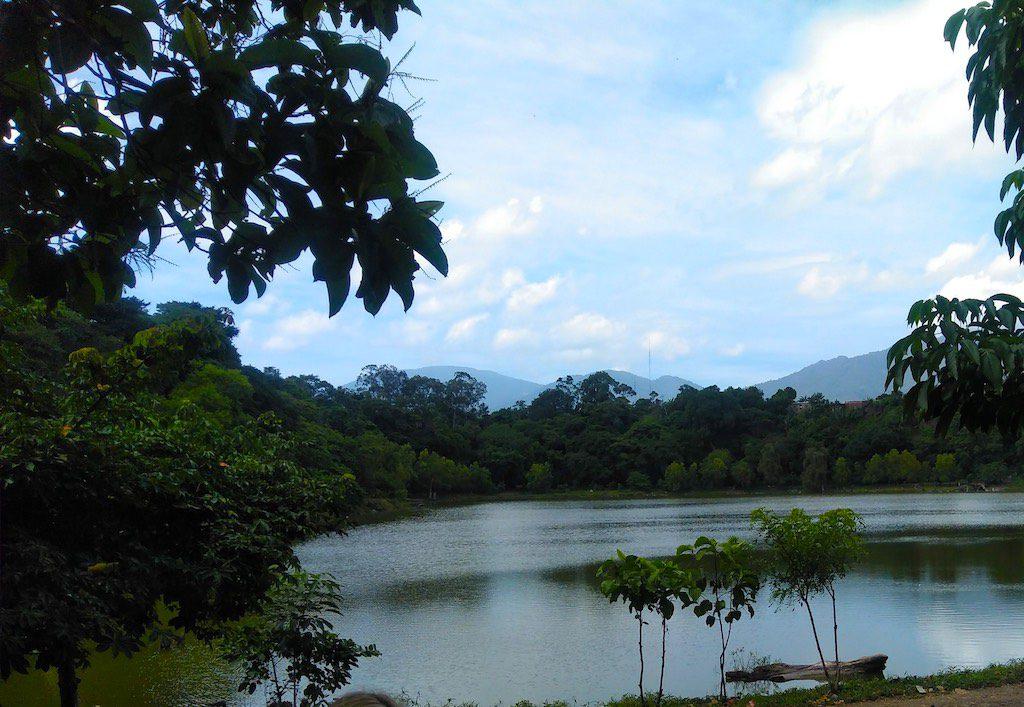 Die legendäre Laguna Cuzcachapa, in der angeblich einiges Maya-Gold versunken sein soll.