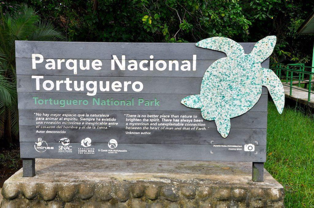 Eingang zum Nationalpark Tortuguero.