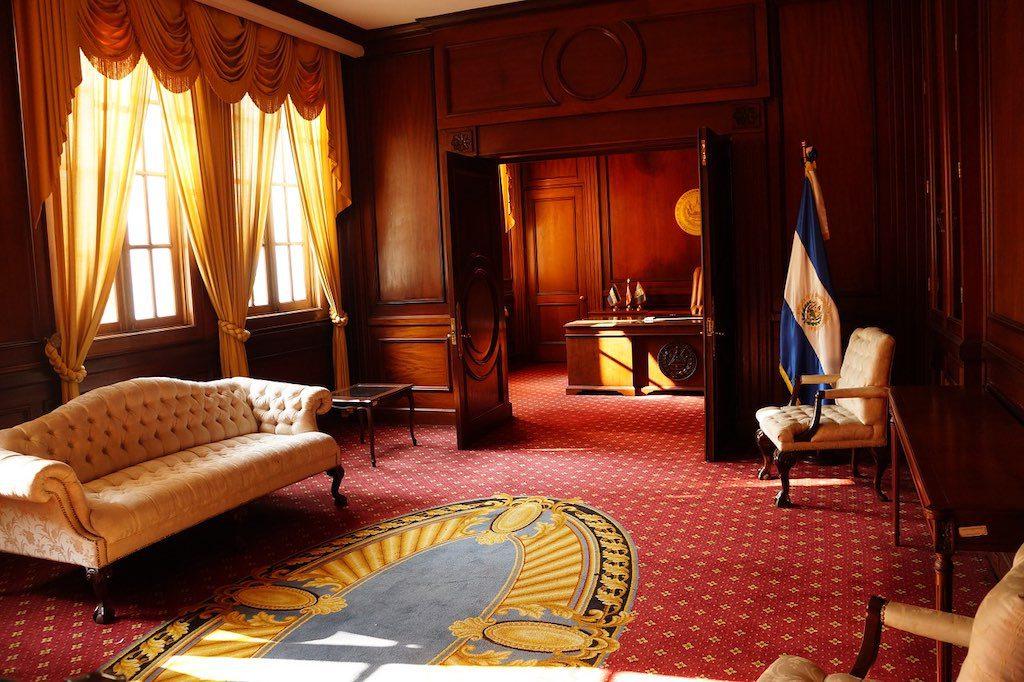 Im Palacio Nacional in San Salvador.