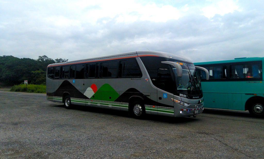 Die Busse in Costa Rica sind vergleichsweise komfortabel
