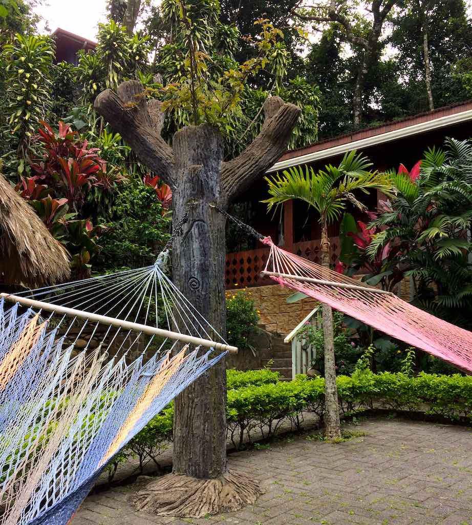Hängematten im Santa Elena Hostel.